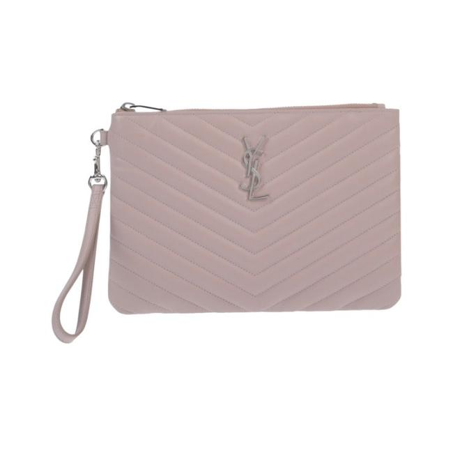 Item - New Pink Silver Leather Wristlet