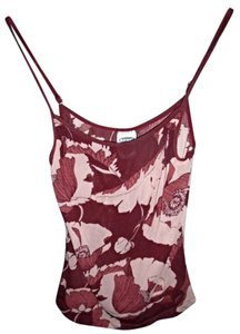 Old Navy Floral Hippie Gypsy Boho Mesh Top Pink/Maroon