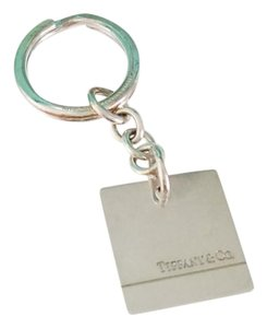 Tiffany & Co. Tiffany & Co Silver Square Engravable Key Ring Keychain Key Chain