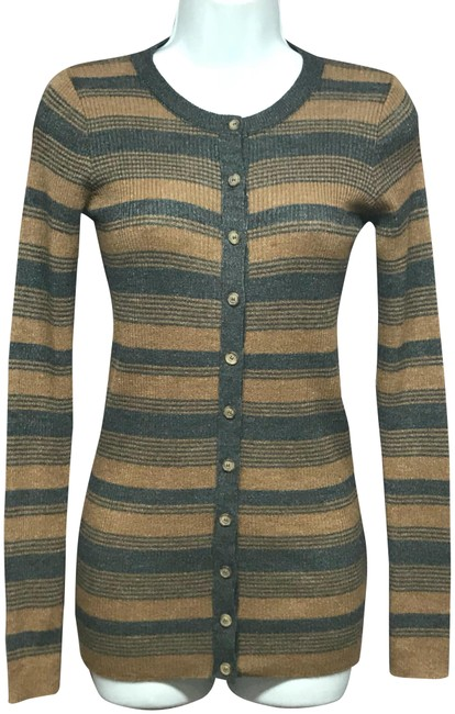 Item - Brown XS D&g Stripes Buttoned Knit Cardigan Size 2 (XS)