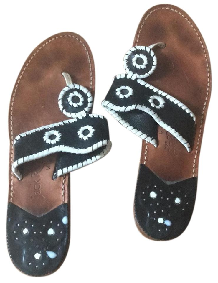 Jack Rogers Beach Black and White Palm Beach Rogers Sandals 4f27a1