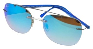 f6f8f745ce Ray-Ban RB4280-6289B7-55 Aviator Men s Silver Frame Blue Lens Sunglasses