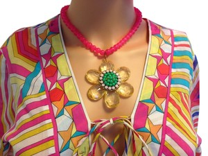 Lenora Dame Flower Necklace