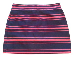 J.Crew Mini Skirt Navy with red stripes