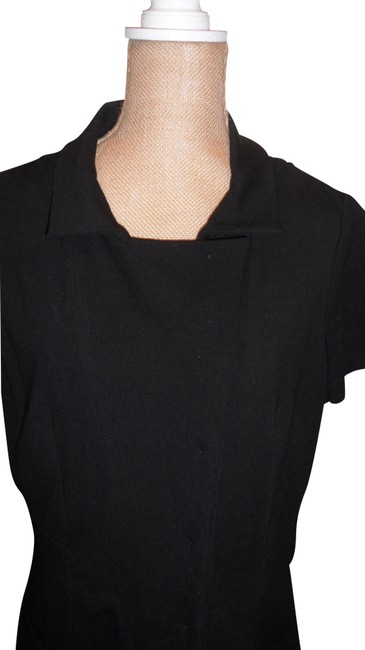 Item - Black By Piazza Sempione Snap Down Elegant Tailored Mid-length Night Out Dress Size 12 (L)