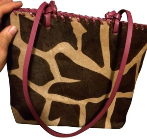 Rafe Satchel in brown tan and pink.