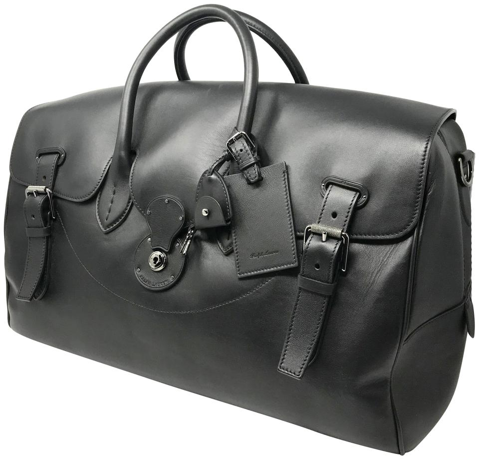 5f5a6658f62c Ralph Lauren Ricky Black Leather Weekend Travel Bag - Tradesy