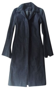 Katayone Adeli Denim Fitted Trench Coat