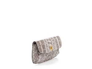 Tory Burch Diana Snake Blush Clutch