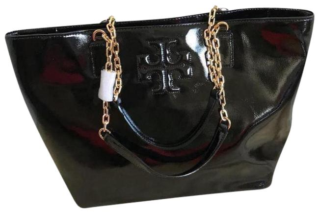 Item - Charlie Black / Gold Patent Leather Tote