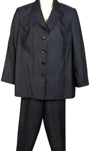 Dana Buchman Dana Buchman Woman Eggplant Silk Cotton Blend Pant Suit 16