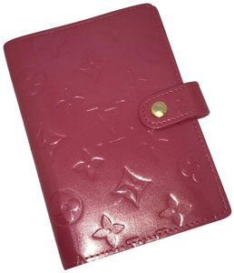 Louis Vuitton Louis Vuitton Vernis Small Ring Agenda Cover Framboise