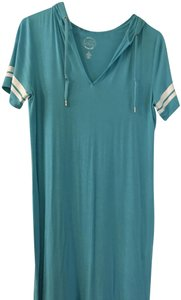 MICHAEL Michael Kors short dress Teal Aqua T-shirt Hooded on Tradesy