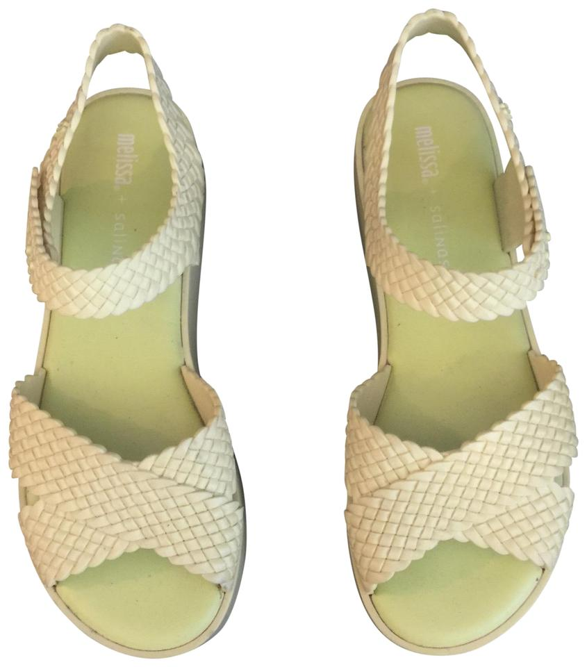 39b29bbe44ca Melissa Bright Yellow Hotness + Salinas Crossover Sandals Size US 10 ...