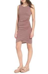 Leith short dress Purple Taupe Heather Rouched Bodycon Tank on Tradesy