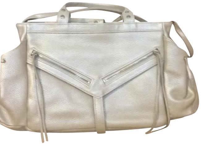 Item - Clyde Pearl (Iridescent) Textured Leather Satchel