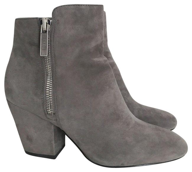 Item - Grey Suede Jacend Zip Ankle Boots/Booties Size US 6.5 Regular (M, B)
