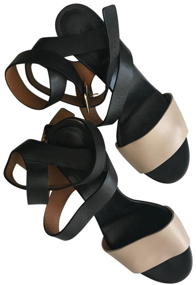 Chloé Black and Nude Two Tone Sandals Size US 7 Regular (M 582f503efe7