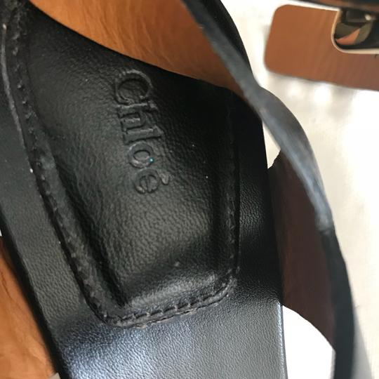 Chloé black and nude Sandals