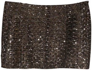 Olivaceous Mini Skirt Gray/Silver Sequin