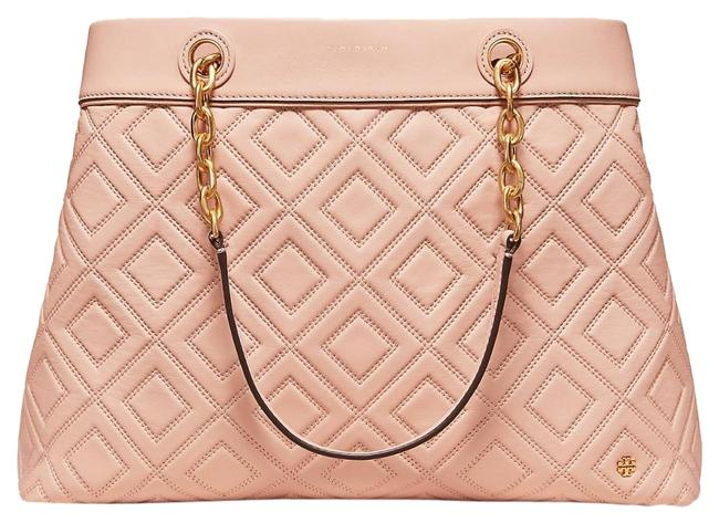 Item - Fleming New Mink Triple Compartment Tote Pinkish Nude Leather Shoulder Bag