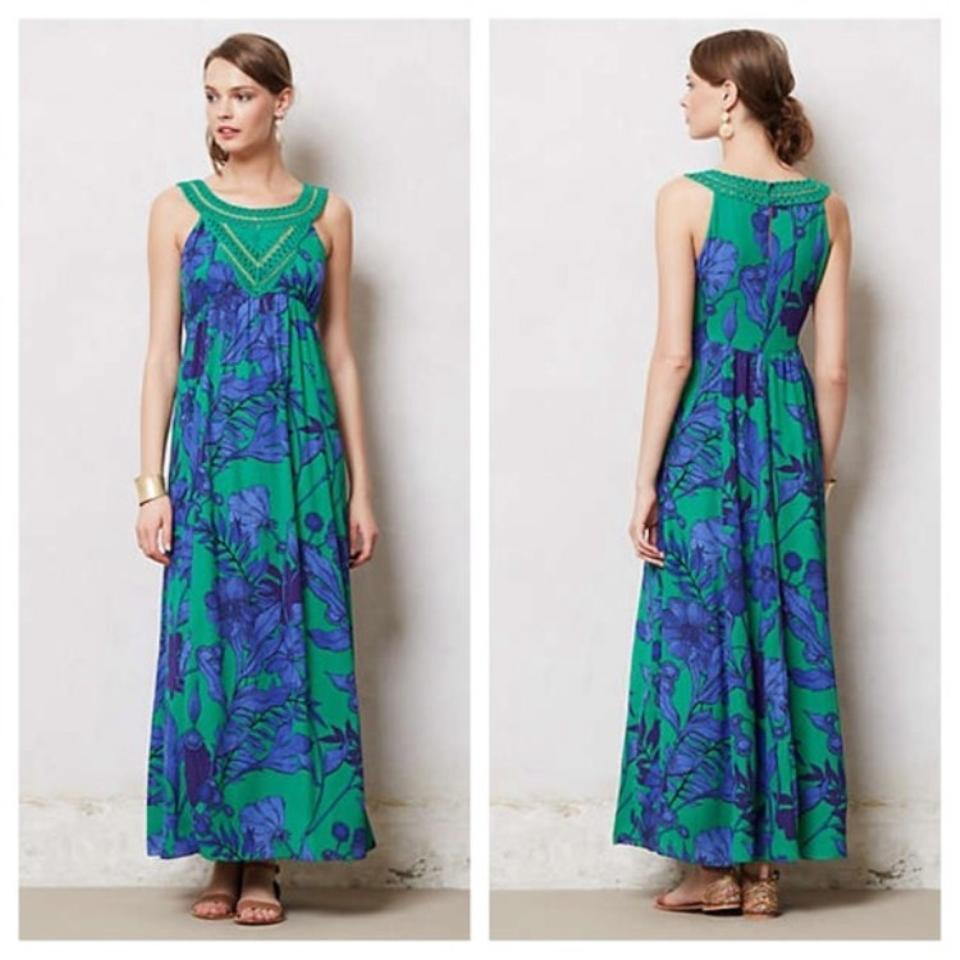 60c90ce4499a Anthropologie Green & Blue Edme Esyllte Floral Casual Maxi Dress. Size: 4  ...