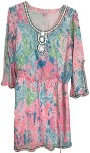 Lilly Pulitzer Beaded Tunic Party Beach Dress