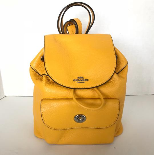 f2d4e59226 Coach Billie Mini Pebble Yellow Leather Backpack - Tradesy
