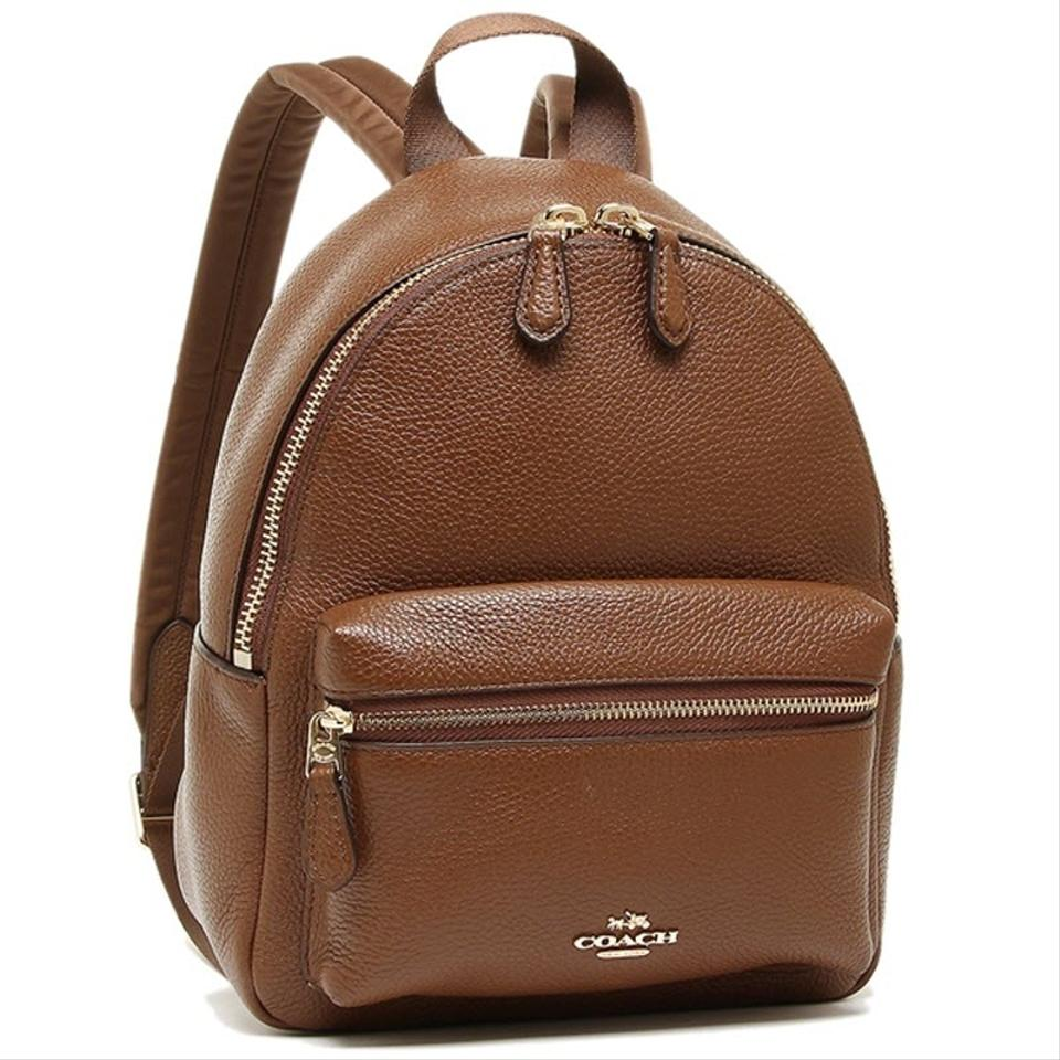 c3c50fde3ee Coach Mini Charlie Rucksack 38263 Brown Leather Backpack 62% off retail