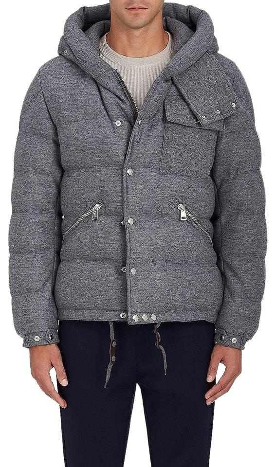 1a78e871b61a Moncler Grey Men s Lioran Down-quilted Wool Coat Size 14 (L) - Tradesy