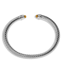 David Yurman DAVID YURMAN CLASSIC CABLE CITRINE & DIAMONDS 5 mm BRACELET