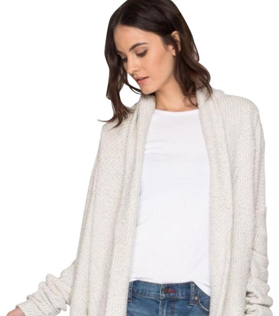 Item - Off White Boucle with Gold Lurex Cardigan Poncho/Cape Size 4 (S)