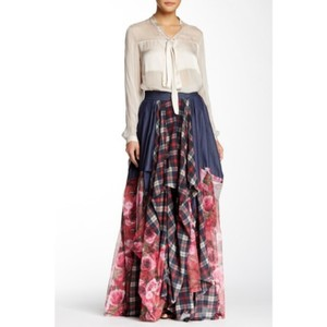 TOV Holy Maxi Skirt Blue and pink