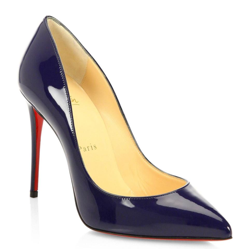 7d90491edfc9 Christian Louboutin Blue Pigalle Follies Patent Leather China Navy ...