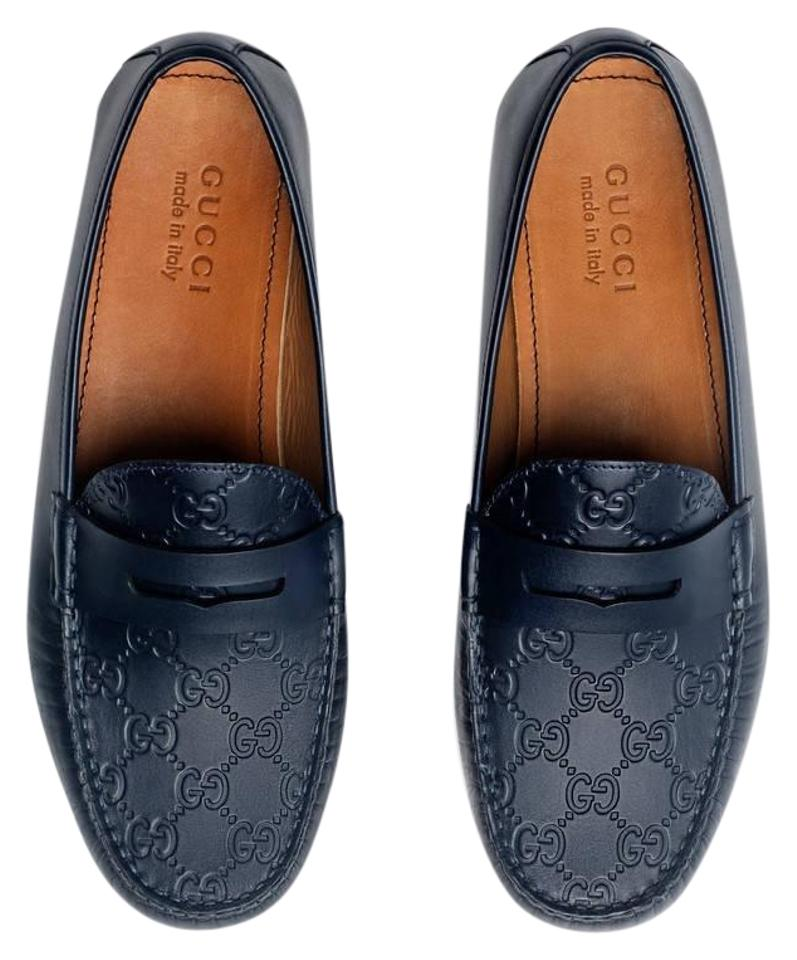 8f26e7f37d9 Gucci Guccisima Gg Marmont Loafer Father Day Navy Blue Flats Image 0 ...