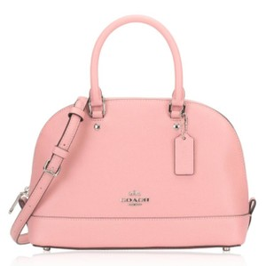 Coach Shoulder Strap Dome Adjustable Leather Leather Satchel in Blush Pink