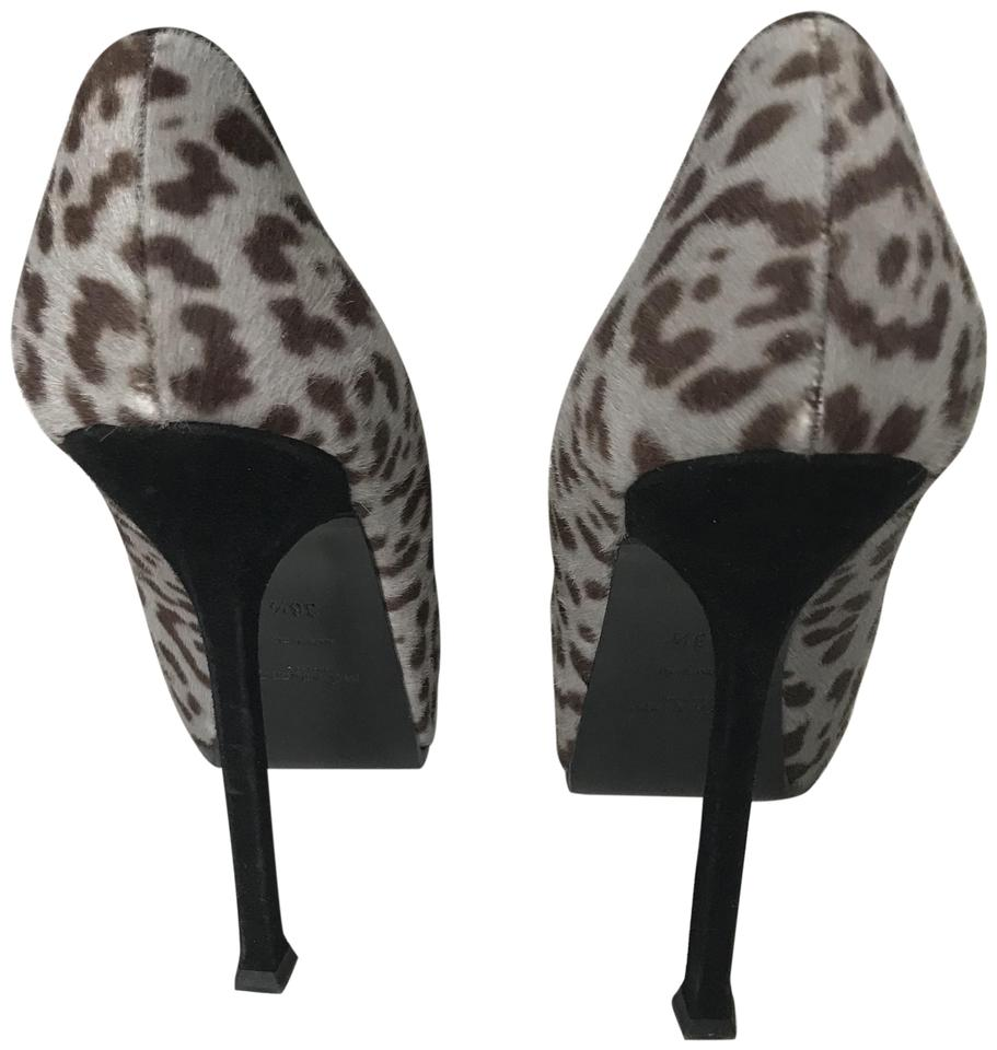999cfdb728e Saint Laurent Black and Baby Blue Leopard Pumps. Size: US 6.5 Regular ...