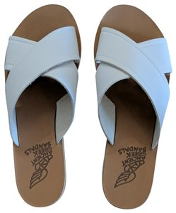 Ancient Greek Sandals Leather white Sandals