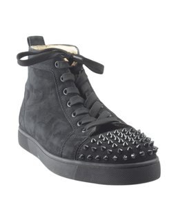 Christian Louboutin Sneakers Suede Black Athletic