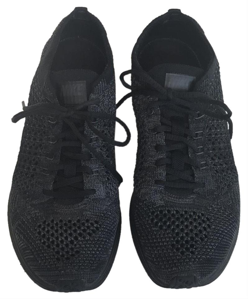 ad94cb5340d54 Nike Black Flyknit Racer Sneakers Size US 5.5 Regular (M