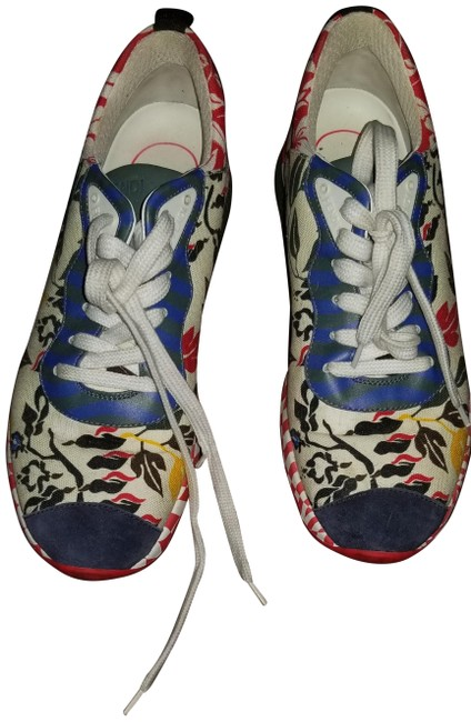 Item - Red White and Blue Chameleon Sneakers Size US 7 Regular (M, B)