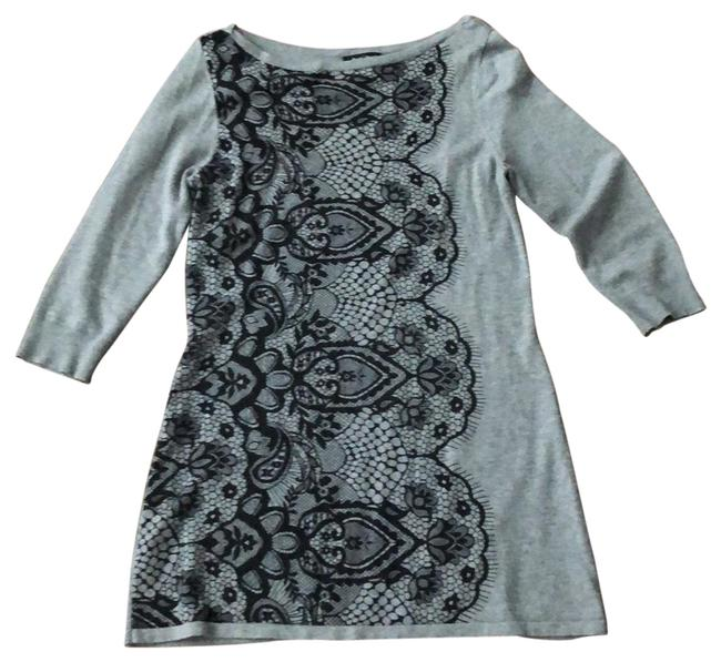 Item - and Gray Lace Tunic Size 8 (M)