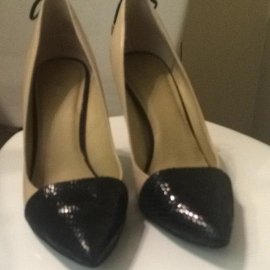 Other Beige And Black Pumps