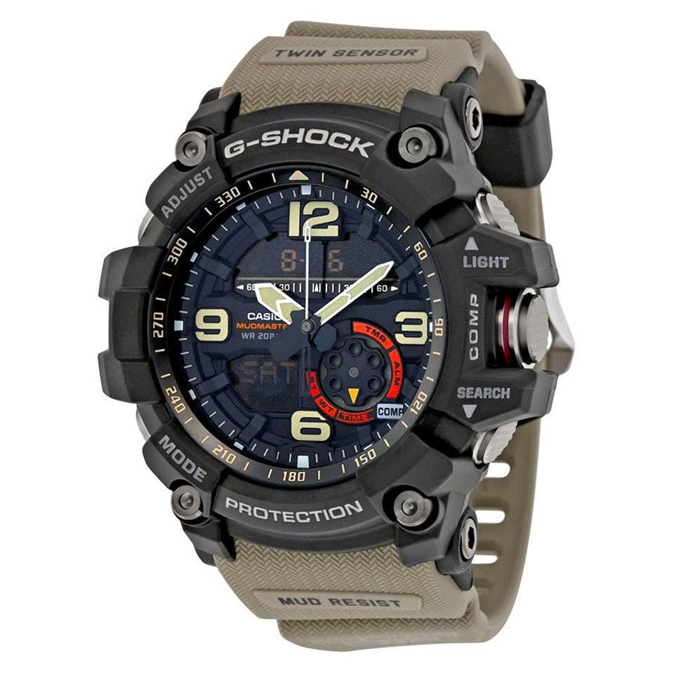 0a647ccf9 Casio Casio G-Shock Black Dial Tan Resin Strap Mens Watch GG1000-1A5 Image  ...