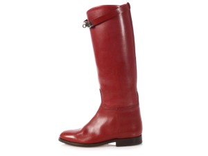Hermès Leather Rounded Toes Hr.p0406.03 Tall Burgundy Boots