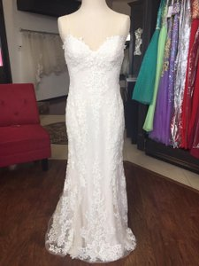 Sottero and Midgley Ivory/Nude Lace Tulle Mattea Formal Wedding Dress Size OS