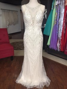 Sottero and Midgley Light Gold with Pewter Accent Maui 6st179 Formal Wedding Dress Size OS