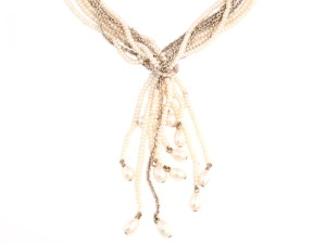 Stephen Dweck STERLING SILVER AND PEARL NECKLACE