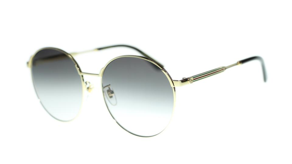 8a7c4aef9d Gucci Gold Grey Women s Gg0206sk 001  Grey Gradient Lens Round Sunglasses