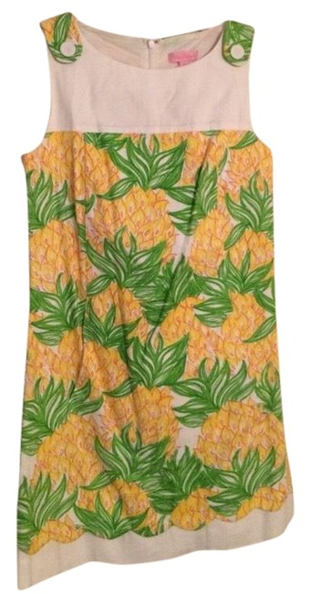 Lilly Pulitzer Yellow Pineapple Florida Shift Short Casual Dress Size 6 (S) Lilly Pulitzer Yellow Pineapple Florida Shift Short Casual Dress Size 6 (S) Image 1